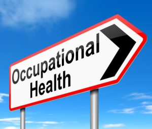 23799749 - illustration depicting a sign with an occupational health concept.